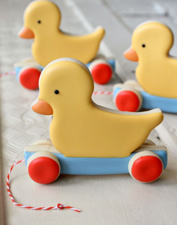 Duck Pull Toy Cookies