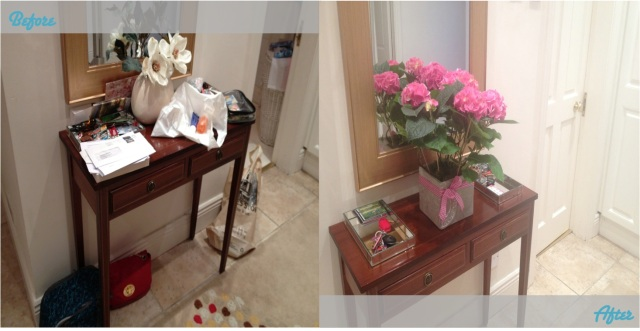 Organising The Hall - Before and After