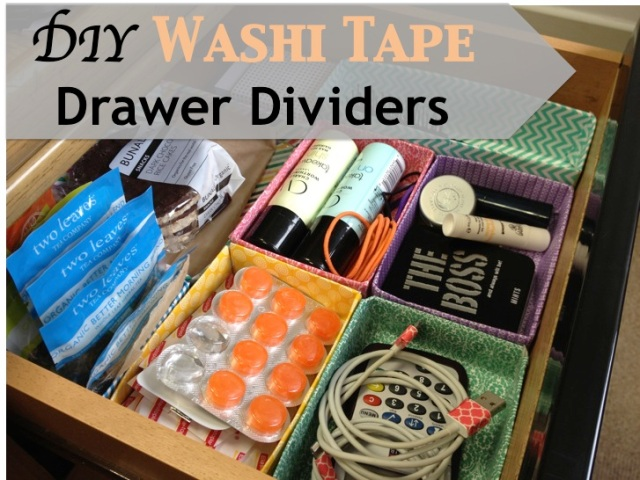 DIY Washi Tape Drawer Dividers